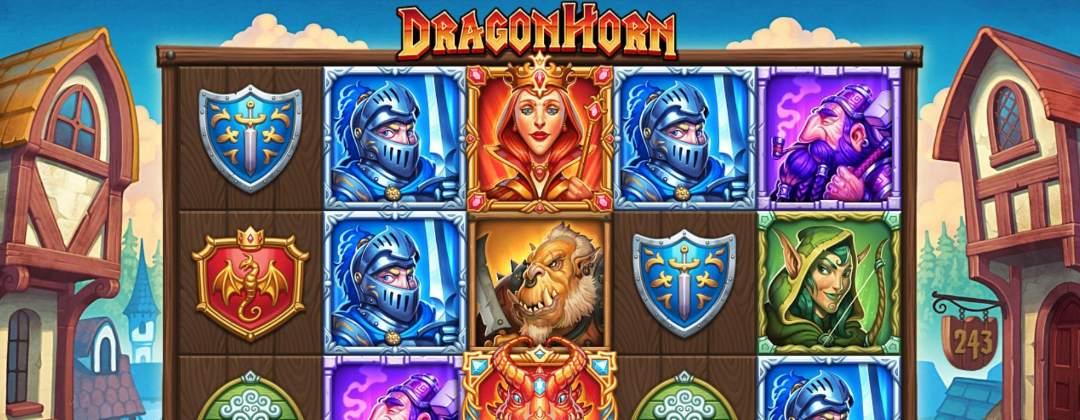 A screenshot of the Dragon Horn slot.